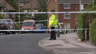 The cordon in Holgate Avenue