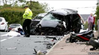 Newburgh fatal scene [Pic: Newsline]