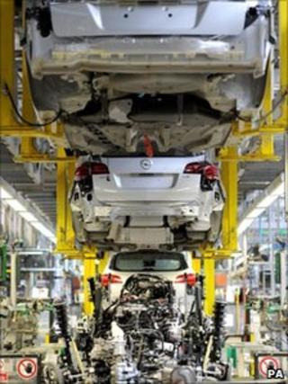 Vauxhall production line