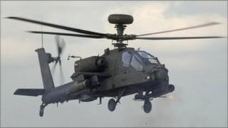 Apache helicopter (library picture)