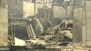 Templepatrick fire scene