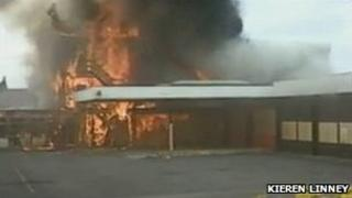 Fire at disused fire station in Brampton