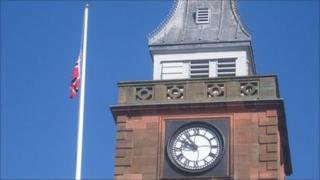 Norwegian flag in Dumfries