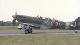 Spitfire at Kidlington Airport