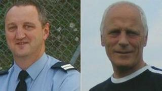 Geoff Wicker (L) and Brian Wembridge died in the explosion