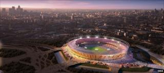 Artist's impression of London's Olympic stadium