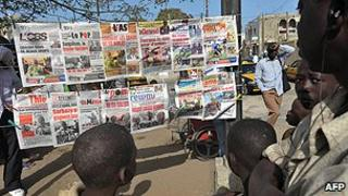 News stand in Senegal