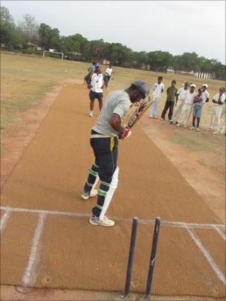 Edward Edin batting