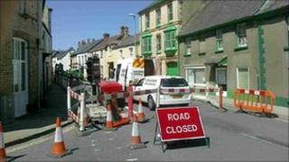Great Torrington roadworks
