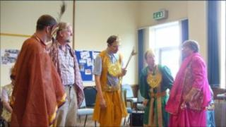 Members of the Swindon Interactive Arts Service rehearsing