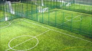 The first phase created six 5-a-side floodlit football pitches