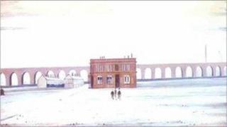 The Viaduct - LS Lowry