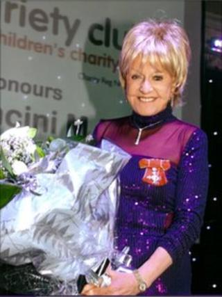 Pat Mancini MBE receiving her Variety Club Award