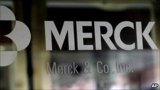 Merck logo at the firm's headquarters in New Jersey