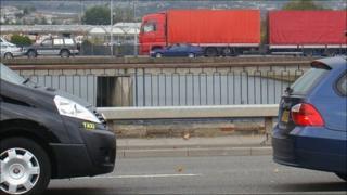 The River Tawe road bridges in Swansea