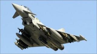 File photo of a British plane involved in the Nato operation in Libya, June 2011
