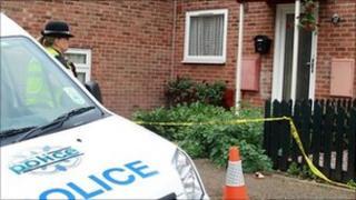 Wellingborough murder scene
