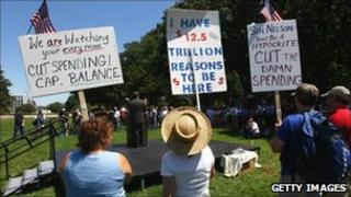 Tea Party protesters outside the Capitol, Washington DC (27 June 2011)