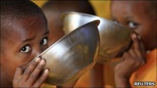 Refugees of the famine in Somalia