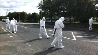 Searches took place on the Foyle Road