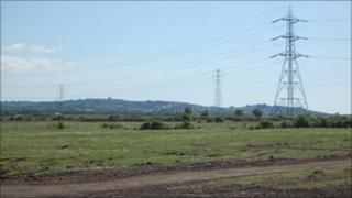 View from Pitsea Marshes across to Canvey Island