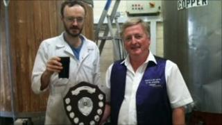 The Mighty Oak's Dr Alex Ratter and John Boyce