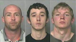 From left: Justin Jack Leach, Ben Joshua McConnon and Thomas Duncan Warburton