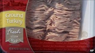 A product subject to meat giant Cargill's recall of 36 million pounds of ground turkey linked to a nationwide salmonella outbreak is shown in Redwood City, California - 3 August 2011