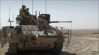 Warrior armoured vehicle. Pic: MoD