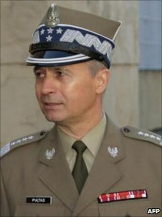 Czeslaw Piatas, the deputy defence minister who has been fired