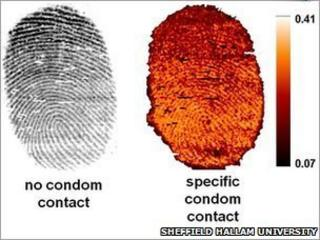 contamination on fingerprints