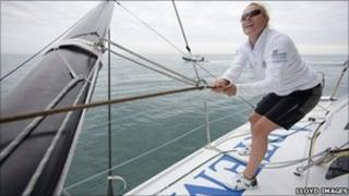 Zara Phillips sailing