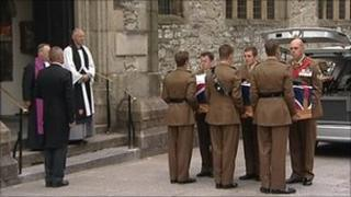 Funeral of Cpl Mark Palin