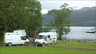 Police search on Loch Lomond