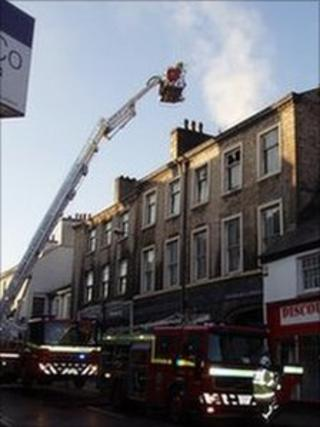 Fire at Westmorland and Lonsdale Conservatives in Kendal