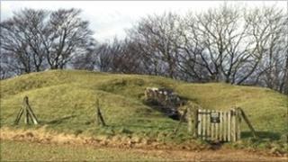 Uley Long Barrow in Gloucestershire
