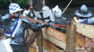 Battle re-enactment in Inverness. Pic: Andrew Robertson/Iain Deveney