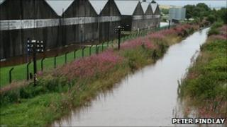 Flooding in the Keith area on Inverness/Aberdeen railway line