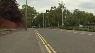 The attack happened on the Station Road in Antrim