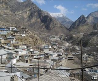 View of mountains in Dagestan
