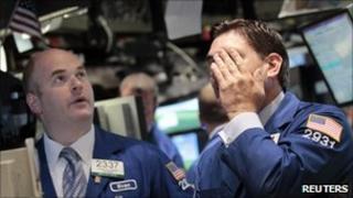 Traders on stock market floor