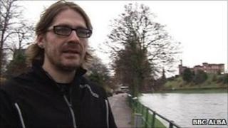 Kevin MacNeil in Inverness. Pic: BBC Alba