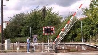 The level crossing in Sleaford