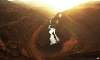 Chromite mines in Orissa, India