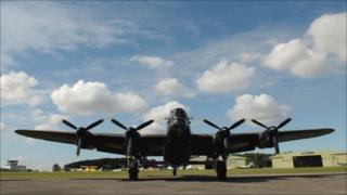 A Lancaster bomber