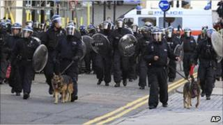 police restore order in England
