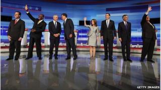 Republican candidates in Iowa