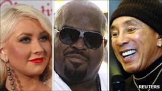 Christina Aguilera, Cee Lo Green and Smokey Robinson