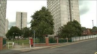 High rise council flats in Lenton, Nottingham