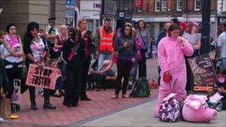 Protest in Derby